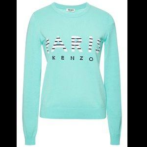 Kenzo Intarsia Paris Knit Cotton Sweater